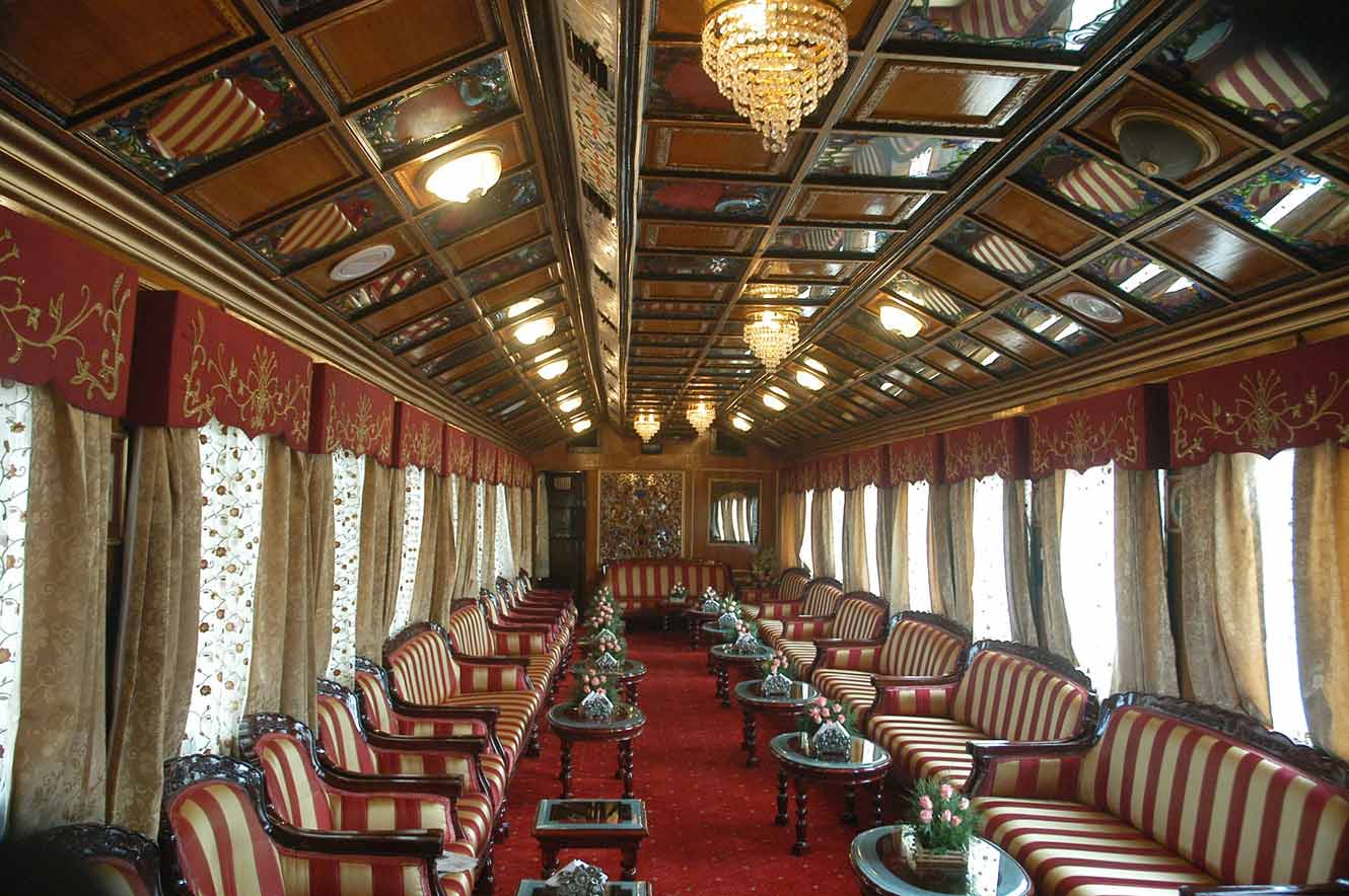 palace on wheels pictures image gallery of luxury train. Black Bedroom Furniture Sets. Home Design Ideas